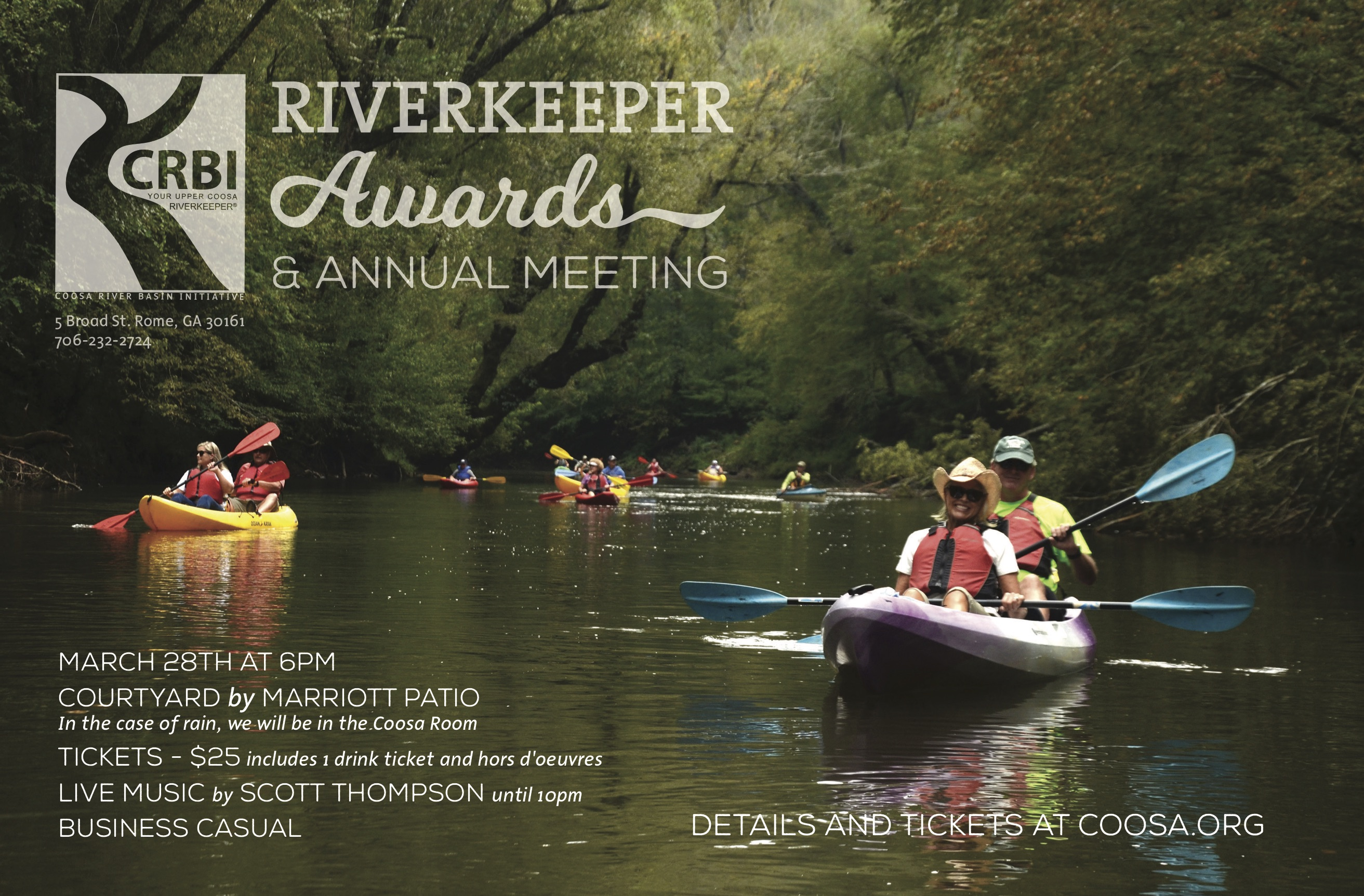 Riverkeeper Awards and Annual Meeting   Coosa River Basin Initiative